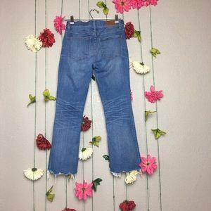 Madewell Jeans - Madewell Button Fly Raw Hem Cali Demi Boot 26